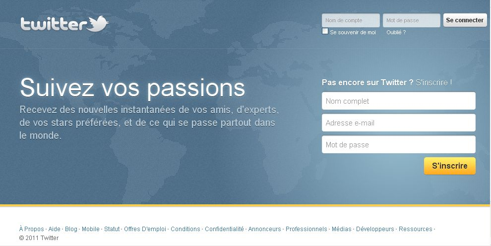 page accueil twitter france