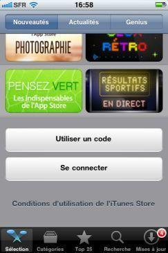Se connecter compte iphone ipad
