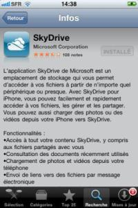 Store skydrive iphone